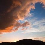 zachód słońca nad bayuyo — Zdjęcie stockowe
