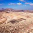 Northern Fuerteventura, view west from Montana Roja (Red mountai — Stock Photo