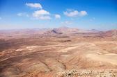 Noordelijke fuerteventura, weergave west van montana roja (rode spoortraject — Stockfoto