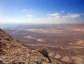 Northern Fuerteventura, view south from Montana Roja (Red mounta — Stock Photo