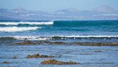 View from Fuervetentura to Lanzarote — Stock Photo