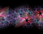 Repeatable folded fractal background — Stock Photo