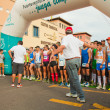 CORRALEJO - NOVEMBER 03: Runners assemble befre  the race at Fou - Stock Photo