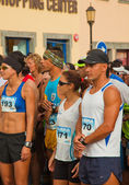 CORRALEJO - NOVEMBER 03: Runners assemble befre the race at Fou — Stock Photo