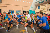 CORRALEJO - NOVEMBER 03: Runners start the race at Forth interna — Stock Photo