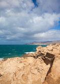 West coast of Fuerteventura at La Pared — Stock Photo
