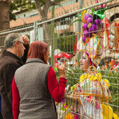 SANTA CRUZ, SPAIN - February 12: participants prepare and assemb — Stockfoto