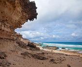 Eroded steep west coast of Fuerteventura — Stock Photo