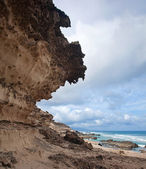 Eroded steep west coast of Fuerteventura — Stock Photo
