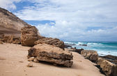 Eroded west coast of Fuerteventura — Stock Photo