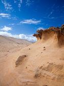 Eroded west coast of Fuerteventura at Jandia, Parque natural de Jandia — Stock Photo