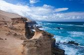 Eroded west coast of Fuerteventura — Stock Photo