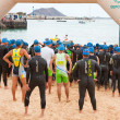Stock Photo: CORRALEJO - April 07: Participants assemble before start of