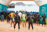CORRALEJO - April 07: Participants assemble before the start of — Stock Photo