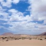 północnej części wyspy fuerteventura, wydm corralejo — Zdjęcie stockowe