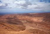 Inland Northern Fuerteventura, view from Montana de Ecanfraga — Foto de Stock