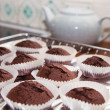 Chocolate mini-muffins — Stock Photo