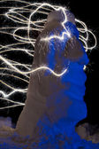 Sparkler art — Stock Photo