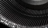 Old typewriter type bars — Stock Photo