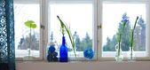 Spring windowsill — Stock Photo