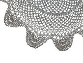 Crochet doily isolated on white — Stock Photo