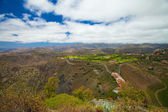 Gran Canaria, aerial view west from Pico de Bandama — Stock Photo