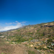 Gran Canaria, aerial view over sttep inland valley — Stock Photo #50197455