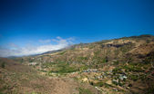 Gran Canaria, aerial view over sttep inland valley — Stock Photo