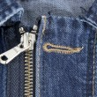 Stock Photo: Zip jeans detail