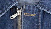 Zip jeans detail — Stock Photo