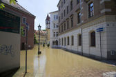 Flooding in Meyssen, Germany, in June 2013 — Stock Photo