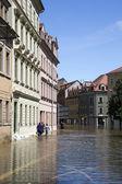 Flooding in Meyssen, Germany, in June 2013 — Stock Photo