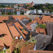 View of the house and roof Meissen during the summer 2013 floods — Stock Photo