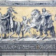"Fragment of a tiled wall panel ""Procession of Princes"" in Dresden — Stock Photo #35852427"