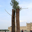 Stock Photo: Giuseppe Penone installation in gardens of Versailles
