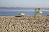 Deserted autumn beach — Foto de Stock