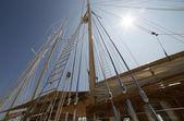 Mast on a yacht — Stock Photo