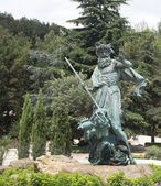 "Sea King Neptune sculpture in the resort ""Aivazovsky"" — Zdjęcie stockowe"