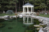"Rotunda in the park of the sanatorium ""Aivazovsky"" in Crimea — Stock Photo"