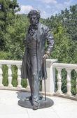 "Monument to Alexander Pushkin the pension ""Aivazovsky"" Crimea — Stock Photo"