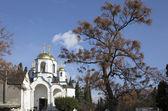 Dormition Cathedral in Gurzuf. Crimea — Stock Photo
