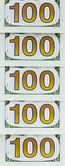 "Inscription ""100"" on the reverse side of the banknote 100 dollars — Stock Photo"