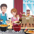 Family dinner — Stock Vector #12602265