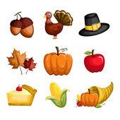 Icone di ringraziamento — Vettoriale Stock