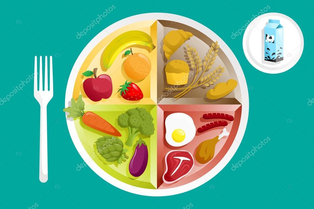 上一盘食物 — 图库矢量图像08