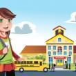 Royalty-Free Stock Векторное изображение: Going to school