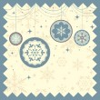 Winter Christmas background — Imagen vectorial