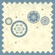 Winter Christmas background — Stock Vector