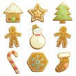 Royalty-Free Stock Vector Image: Gingerbread cookies icons
