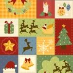Christmas decoration wallpaper — Stock Vector
